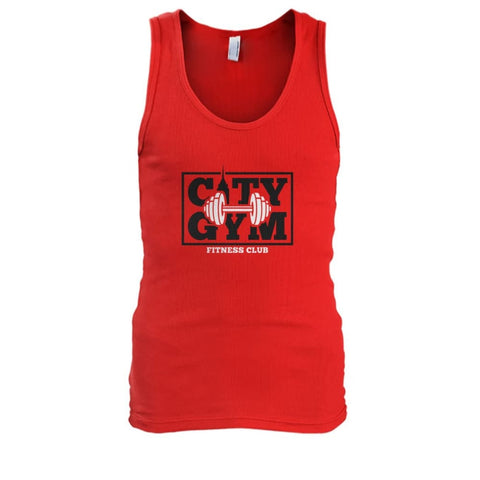 City Gym Tank - Red / S - Tank Tops