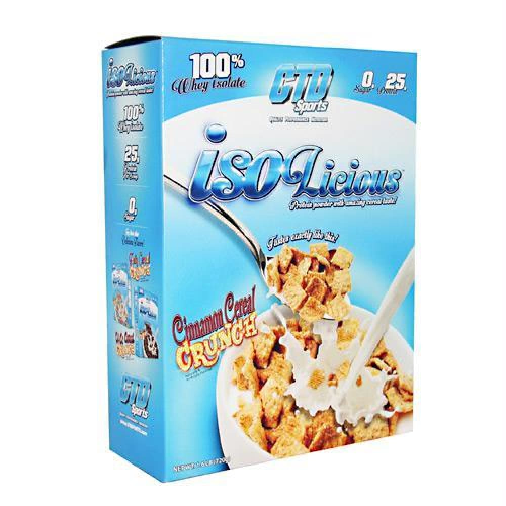 CTD Labs Isolicious Fruity Cereal - Gluten Free - Cinnamon Cereal Crunch / 1.6 lb - Supplements