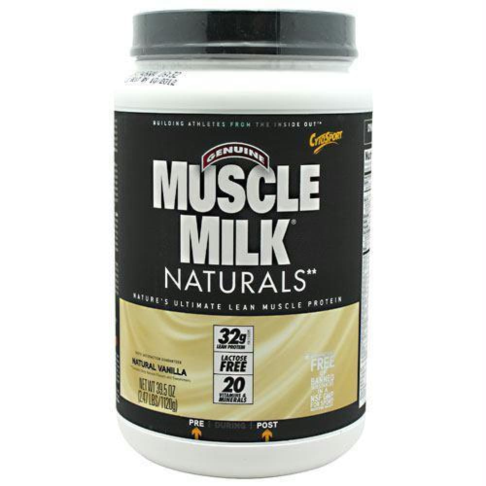Cytosport Natural Muscle Milk Real Chocolate - Vanilla Creme / 2.48 lb - Supplements