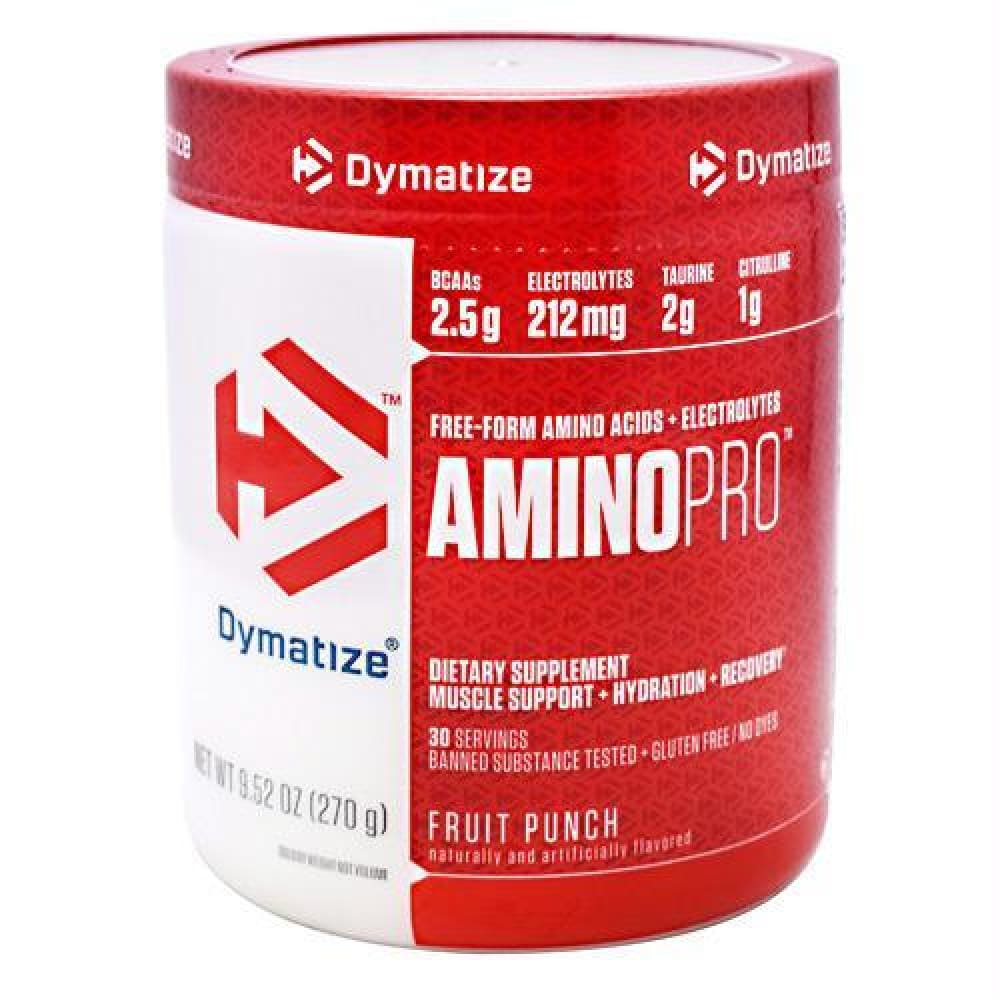 Dymatize AminoPro Lemon Lime - Gluten Free - Fruit Punch / 30 ea - Supplements