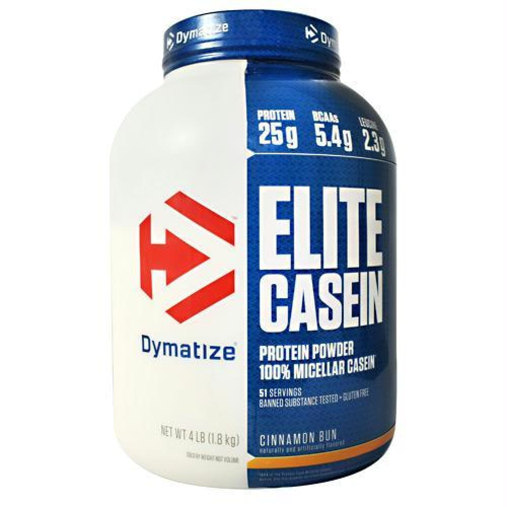 Dymatize Elite Casein Rich Chocolate - Gluten Free - Cinnamon Bun / 4 lb - Supplements