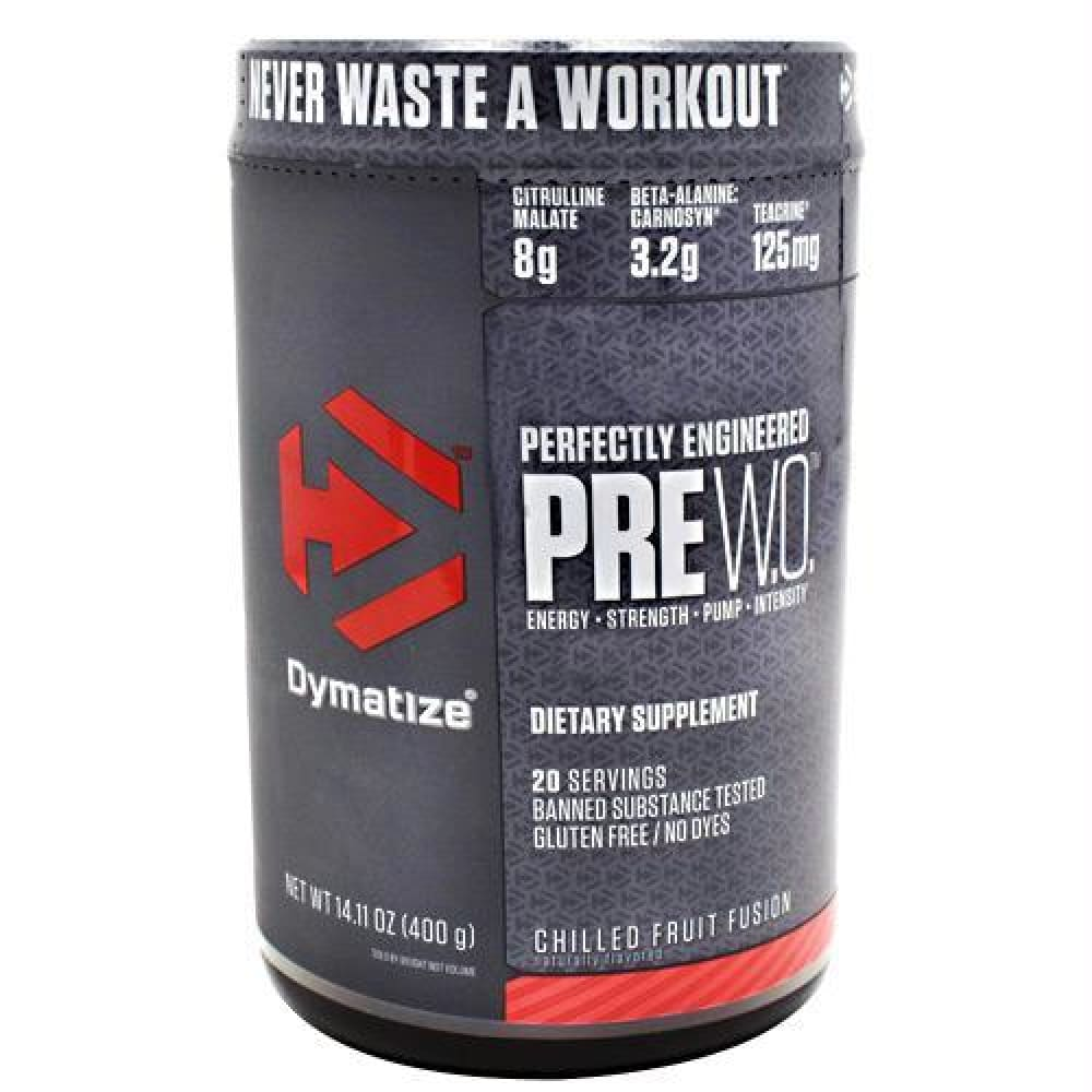 Dymatize Pre W.O. Pineapple Orange Crush - Gluten Free - Chilled Fruit Fusion / 20 ea - Supplements