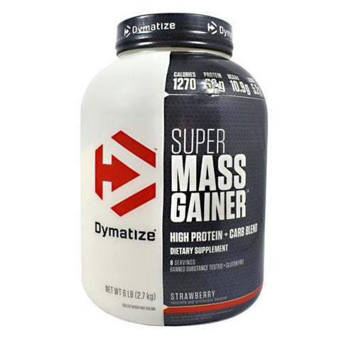 Dymatize Super Mass Gainer Fudge Brownie - Gluten Free - Strawberry / 6 lb - Supplements