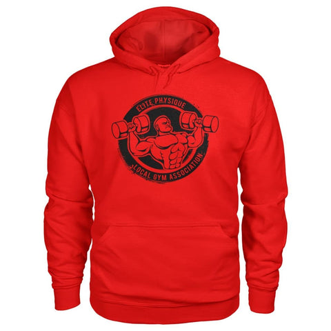 Image of Elite Physique Hoodie - Red / S - Hoodies