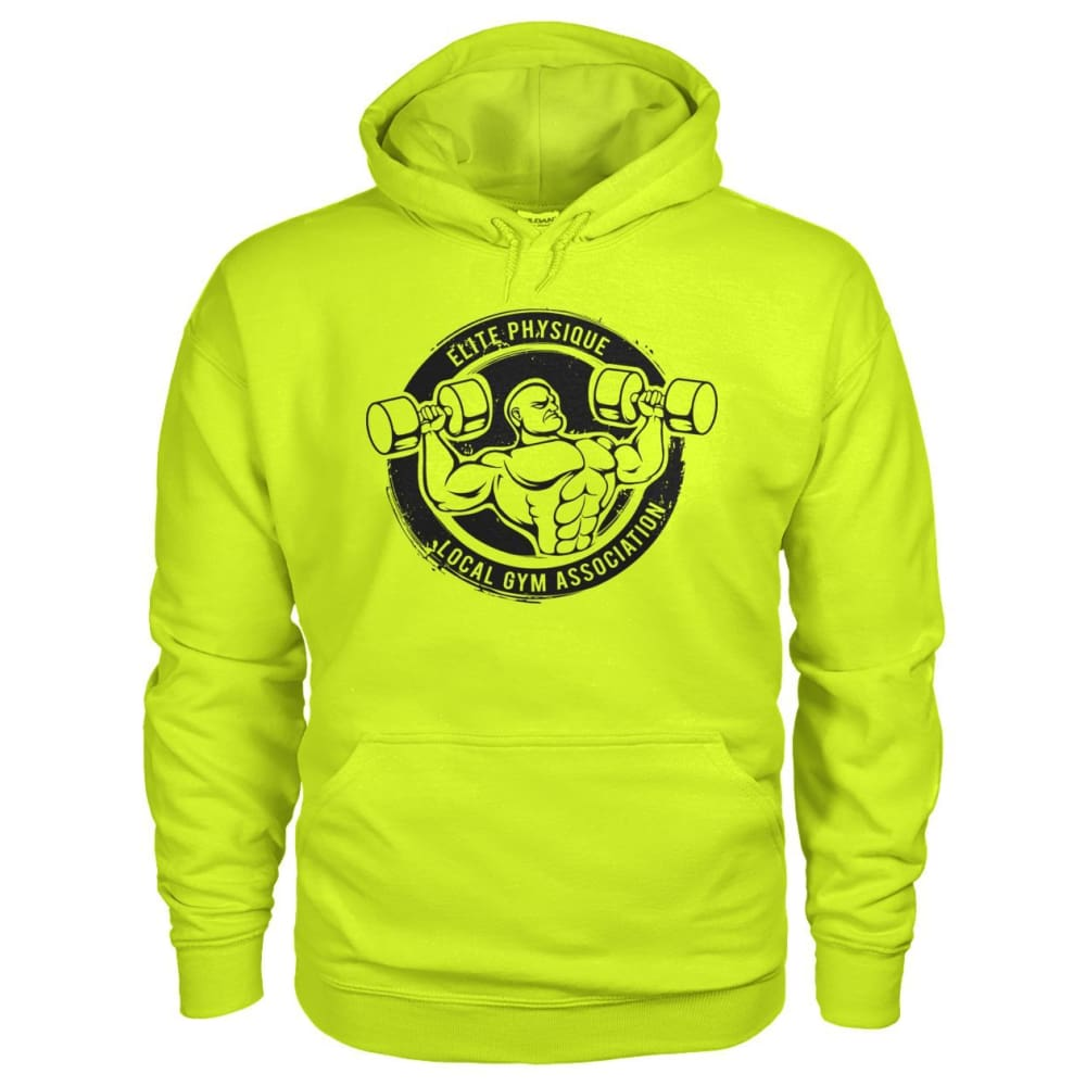 Elite Physique Hoodie - Safety Green / S - Hoodies