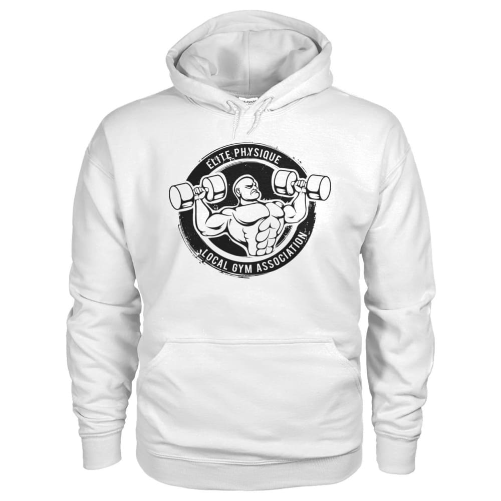 Elite Physique Hoodie - White / S - Hoodies