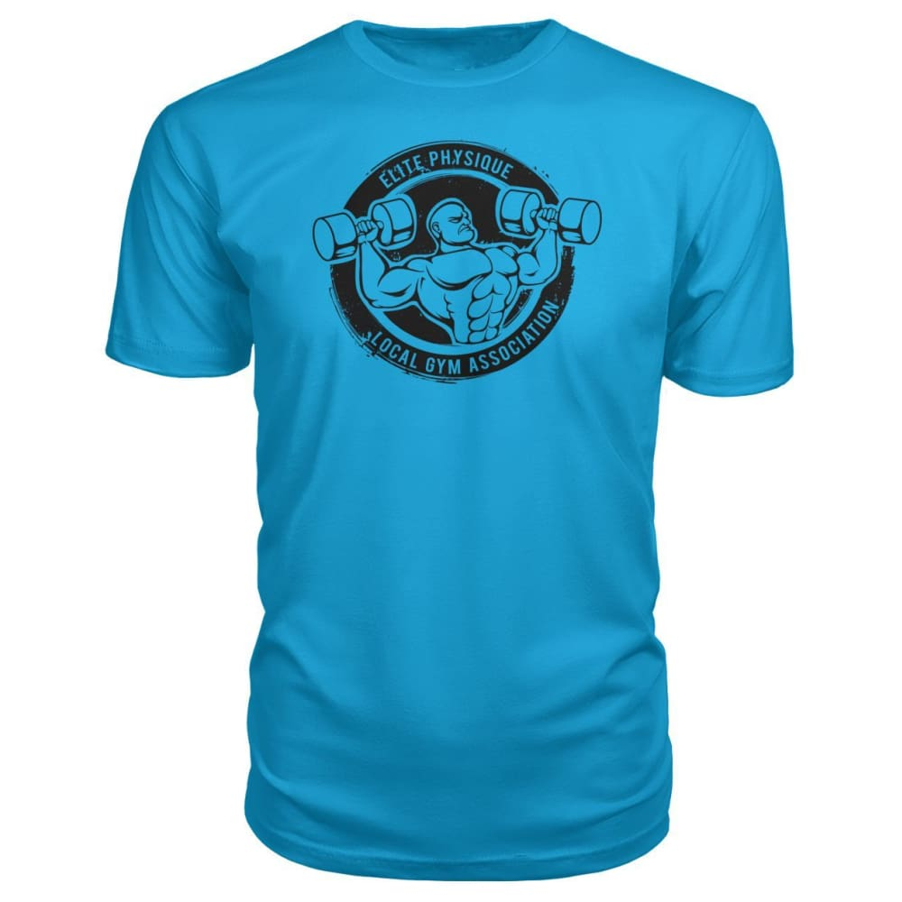 Elite Physique Premium Tee - Carribean Blue / S - Short Sleeves