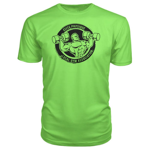 Elite Physique Premium Tee - Key Lime / S - Short Sleeves