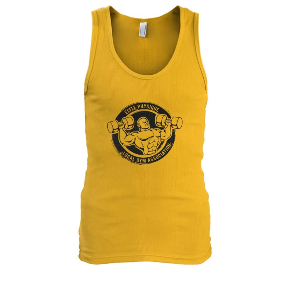 Elite Physique Tank - Gold / S - Tank Tops