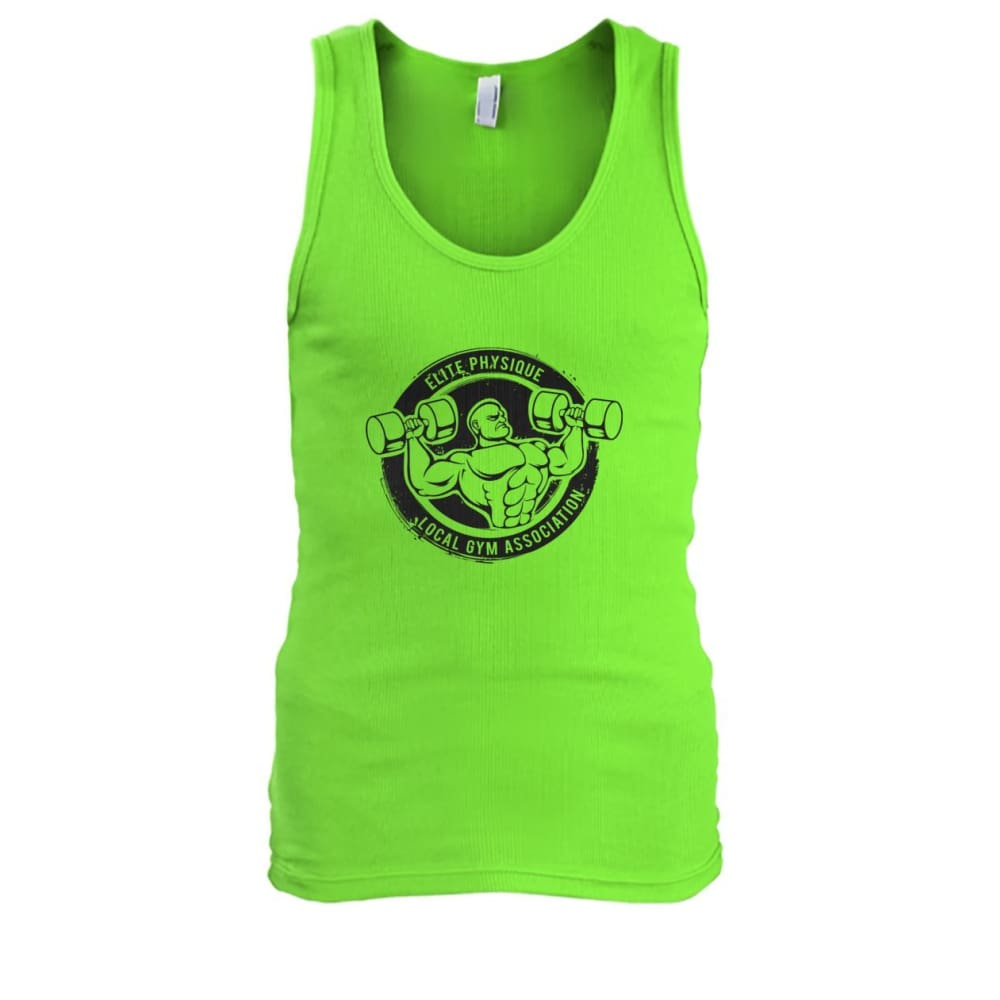 Elite Physique Tank - Lime / S - Tank Tops