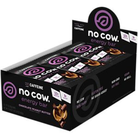 No Cow Made With Caffeine No Cow Energy Bar Chocolate Peanut Butter - Gluten Free