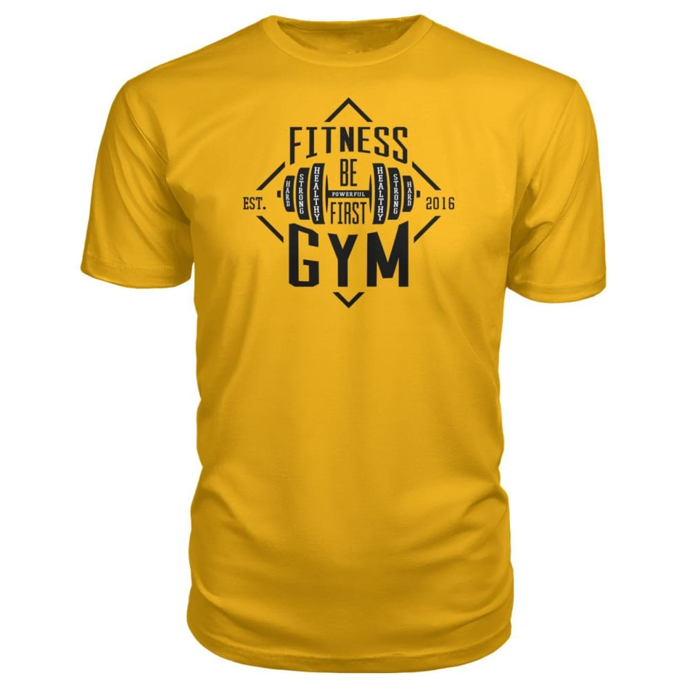Fitness Gym Premium Tee - Gold / S - Short Sleeves