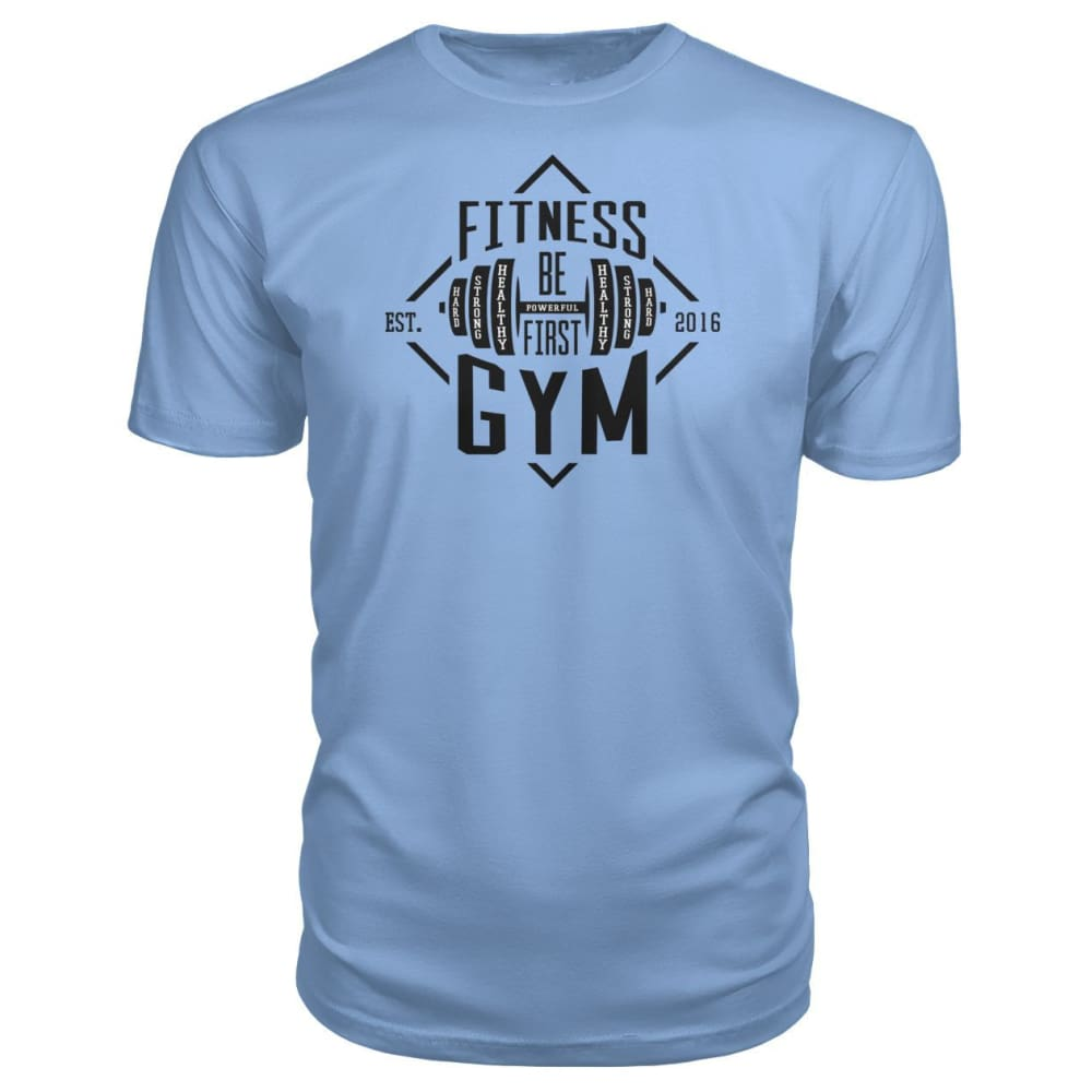 Fitness Gym Premium Tee - Light Blue / S - Short Sleeves