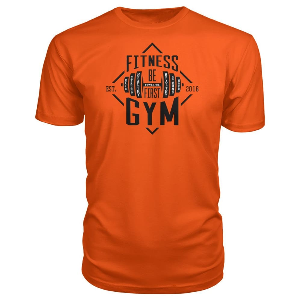 Fitness Gym Premium Tee - Orange / S - Short Sleeves