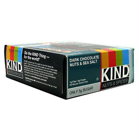 Kind Snacks Kind Bar Dark Chocolate Cinnamon Pecan - Gluten Free - Dark Chocolate Nuts & Sea Salt / 12 ea - Bars