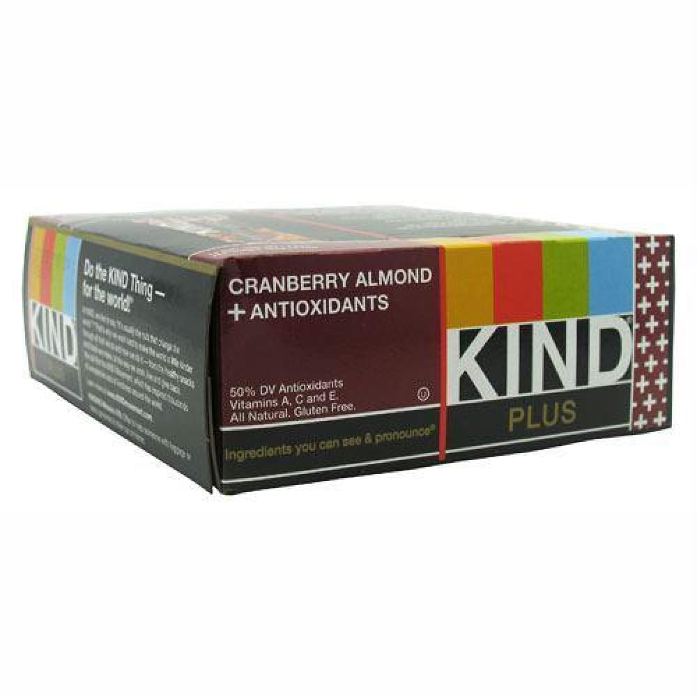 Kind Snacks Kind Plus Antioxidants Cranberry & Almond - Gluten Free - Cranberry & Almond / 12 ea - Bars