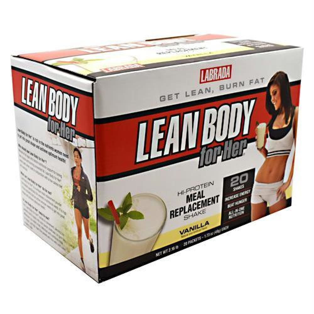Labrada Nutrition Lean Body for Her Strawberry - Gluten Free - Vanilla / 20 ea - Supplements