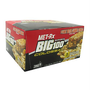 Met-Rx USA Big 100 Colossal Peanut Butter Caramel Crunch - Peanut Butter Caramel Crunch / 9 ea - Bars