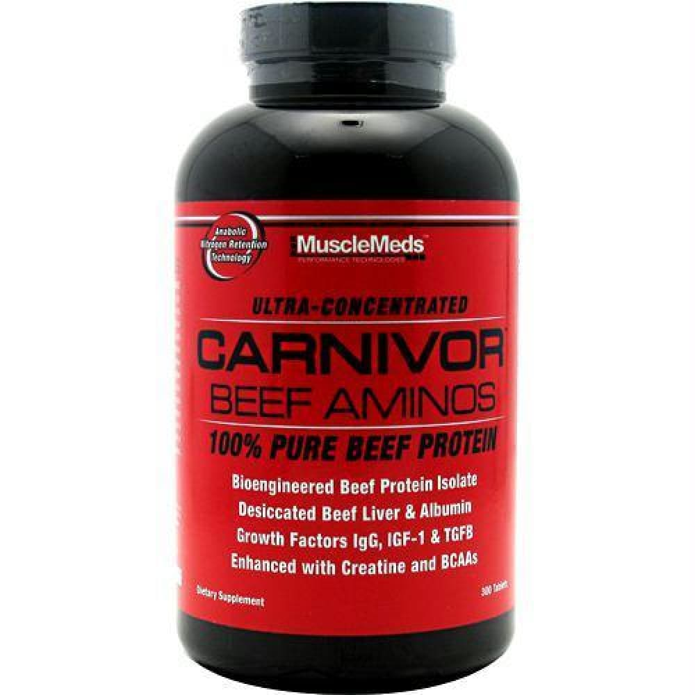 Muscle Meds Carnivor Beef Aminos - 300 ea - Supplements