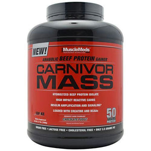 Muscle Meds Carnivor Mass Chocolate Fudge - Chocolate Fudge / 5.7 lb - Supplements