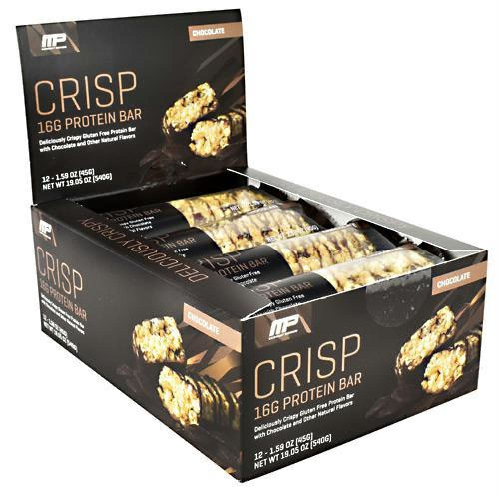 MusclePharm Combat Series Crisp Protein Bar Chocolate - Gluten Free - Chocolate / 12 ea - Bars