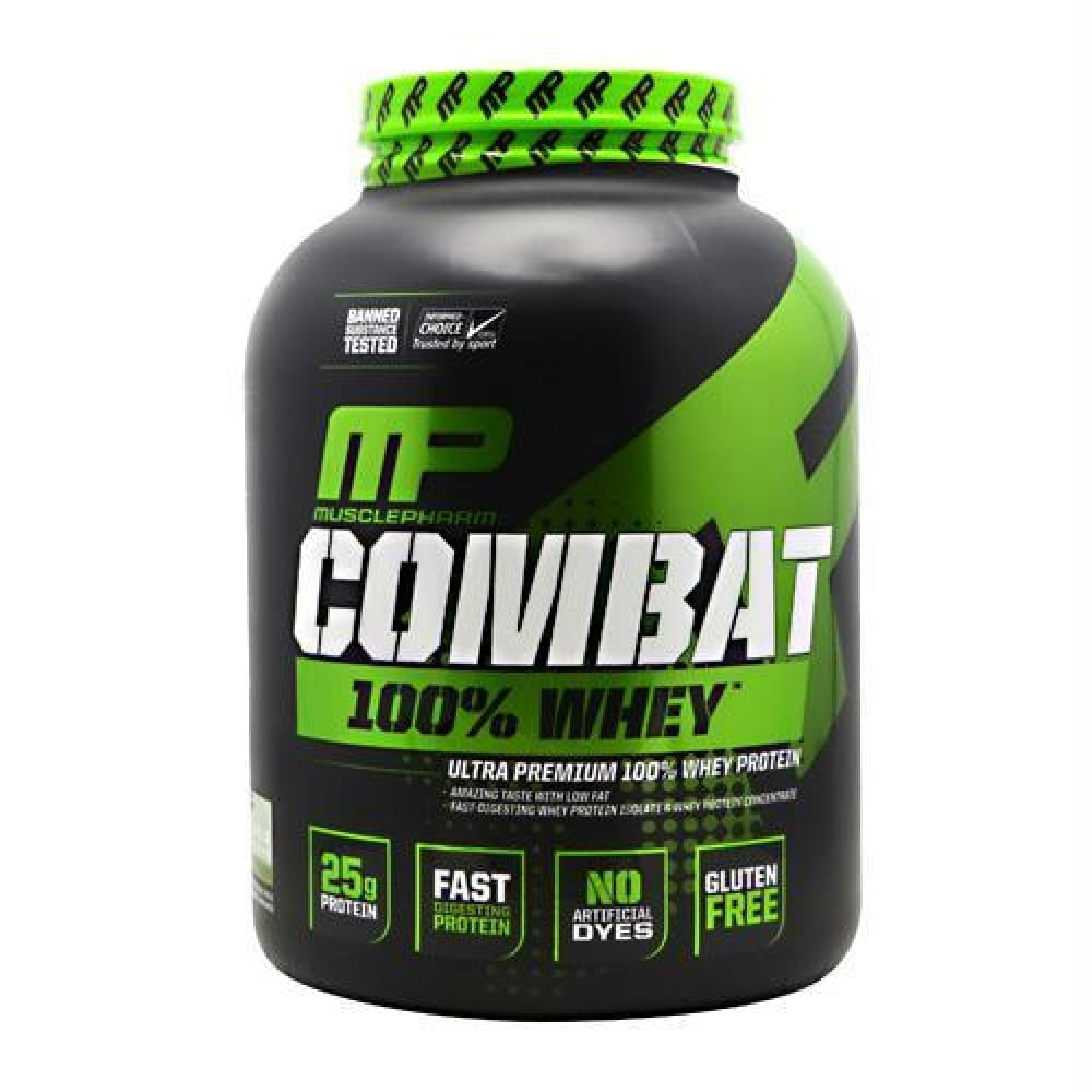 MusclePharm Sport Series Combat 100% Whey Cookies N Cream - Vanilla / 5 lb - Supplements