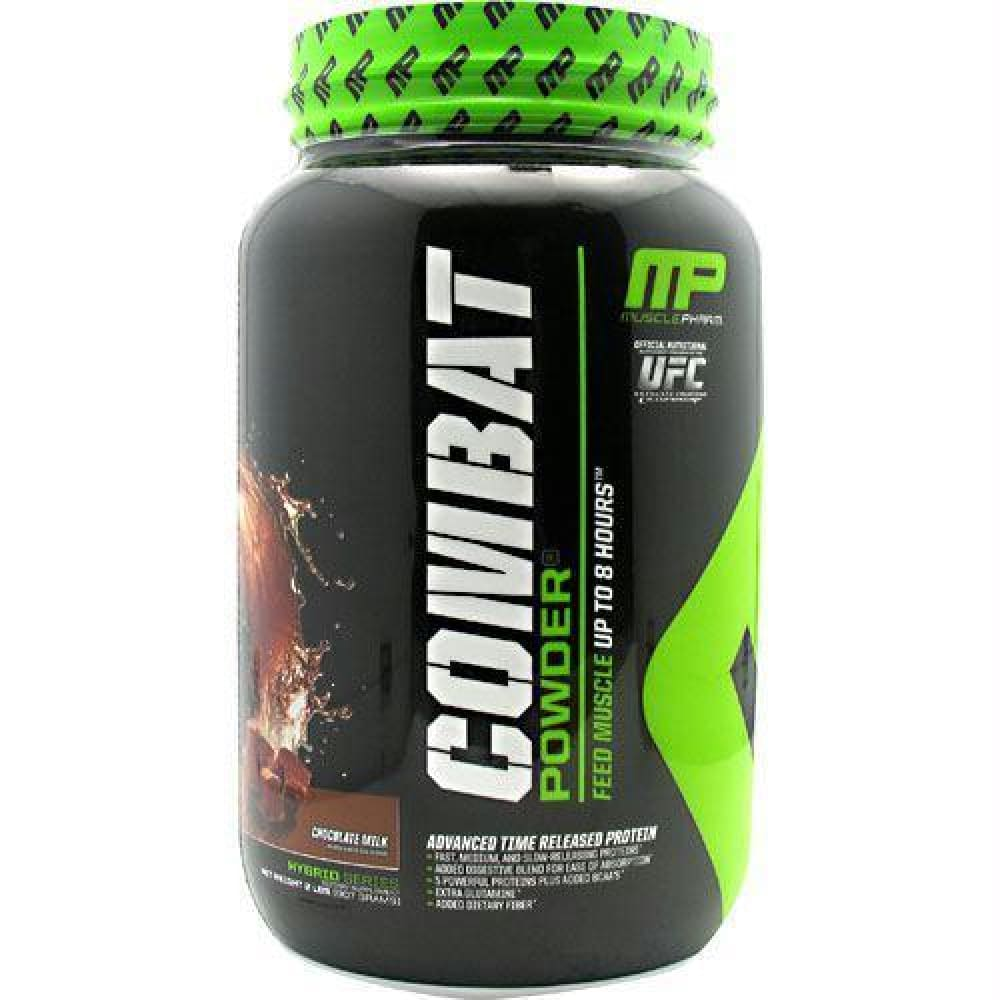 MusclePharm Sport Series Combat Protein Powder Vanilla - Gluten Free - Chocolate Milk / 2 ea - Supplements