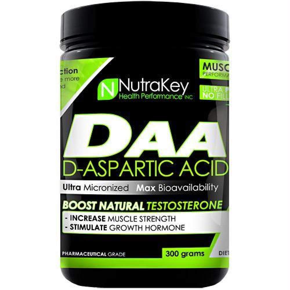 Nutrakey D-Aspartic Acid Unflavored - Unflavored / 300 g - Supplements