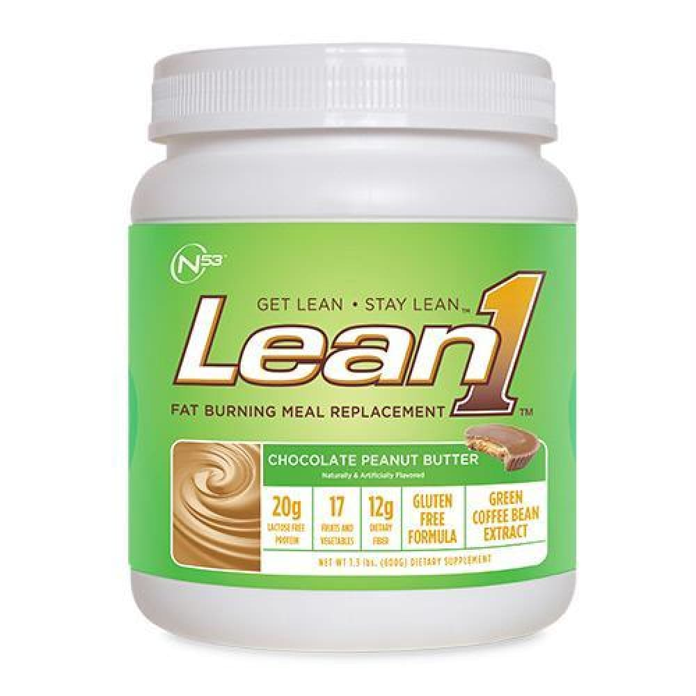 Nutrition 53 Lean1 Salted Caramel - Gluten Free - Chocolate Peanut Butter / 10 ea - Supplements