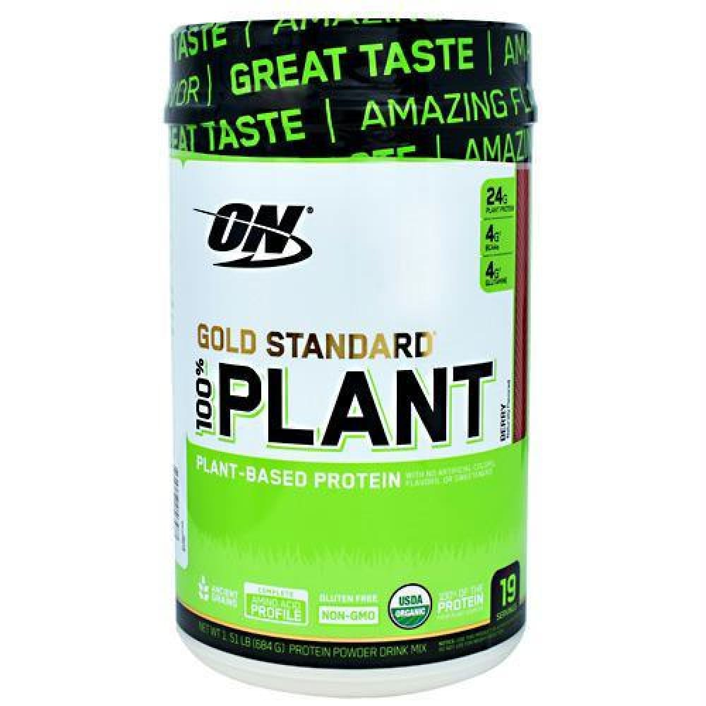 Optimum Nutrition Gold Standard 100% Plant Protein Berry - Gluten Free - Berry / 19 ea - Supplements