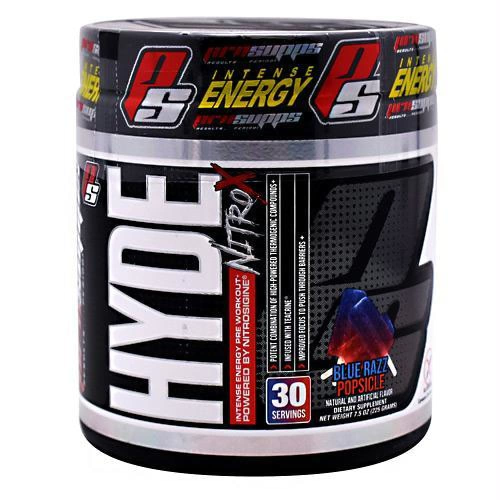 Pro Supps Hyde Nitro X What-O-Melon - Gluten Free - Blue Razz Popsicle / 30 ea - Supplements