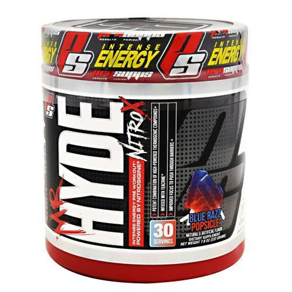 Pro Supps Mr. Hyde Nitro X Blue Razz Popsicle - Gluten Free - Blue Razz Popsicle / 30 ea - Supplements