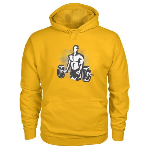 Image of Pumpin Iron Hoodie - Gold / S - Hoodies