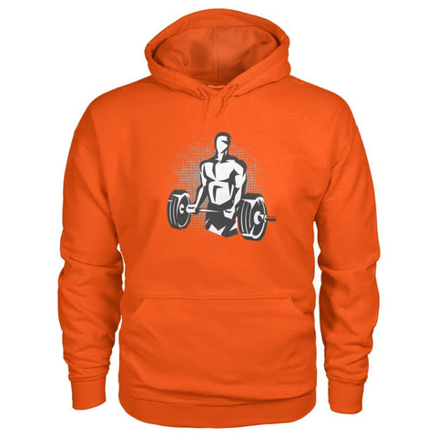 Pumpin Iron Hoodie - Orange / S - Hoodies