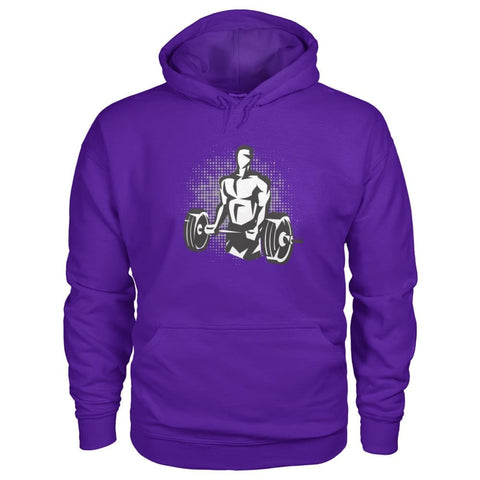 Image of Pumpin Iron Hoodie - Purple / S - Hoodies