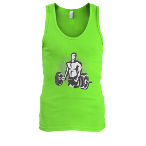 Pumpin Iron Tank - Lime / S - Tank Tops