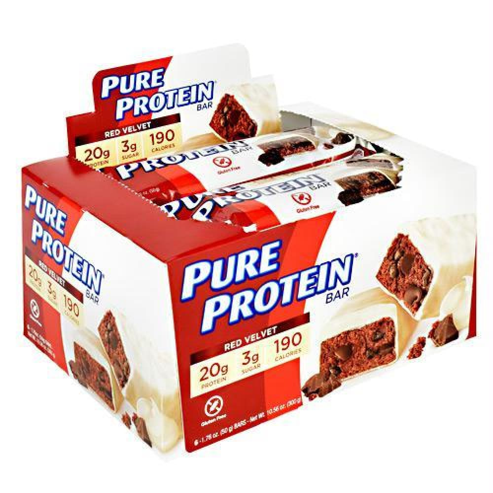 Pure Protein Pure Protein Bar Birthday Cake - Gluten Free - Red Velvet / 6 ea - Bars