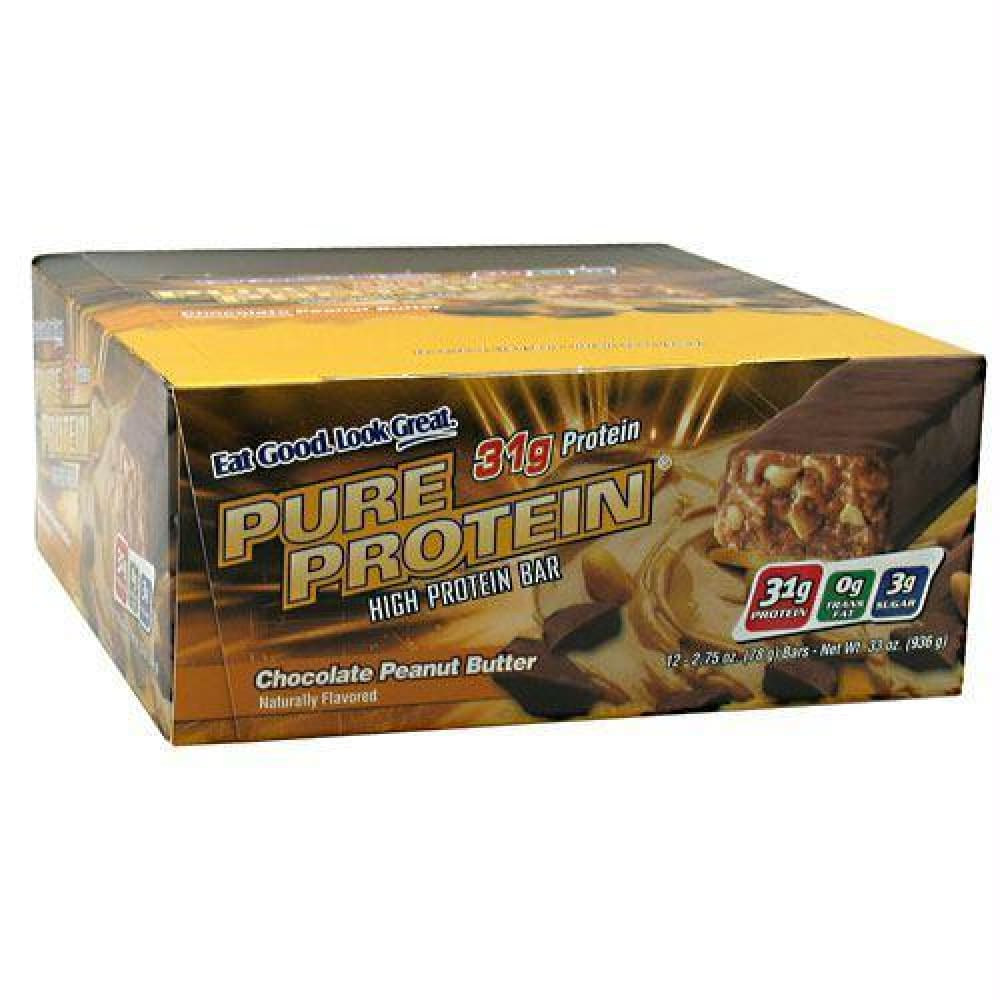 Pure Protein Pure Protein High Protein Bar Chewy Chocolate Chip - Chocolate Peanut Butter / 12 ea - Bars