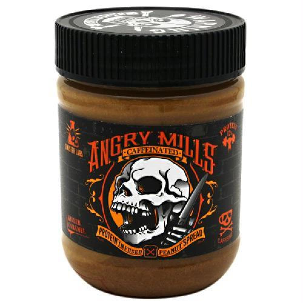 Sinister Labs Caffeinated Angry Mills Peanut Spread Chocolate Craze - Gluten Free - Killer Caramel / 12 oz - Snacks / Foods