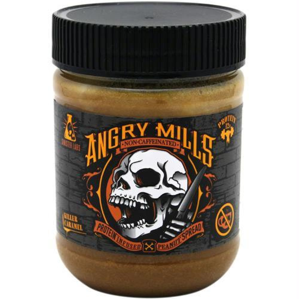 Sinister Labs Non-Caffeinated Angry Mills Peanut Spread Wicked White Chocolate - Killer Caramel / 12 oz - Snacks / Foods