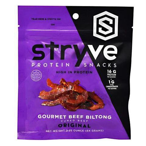 Stryve Foods Protein Snacks Gourmet Beef Biltong Zesty Garlic - Gluten Free - Original / 2.25 oz - Snacks / Foods