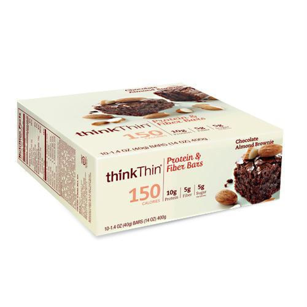 Think Products Think Thin Lean Chunky Chocolate Peanut - Gluten Free - Chocolate Almond Brownie / 10 ea - Bars