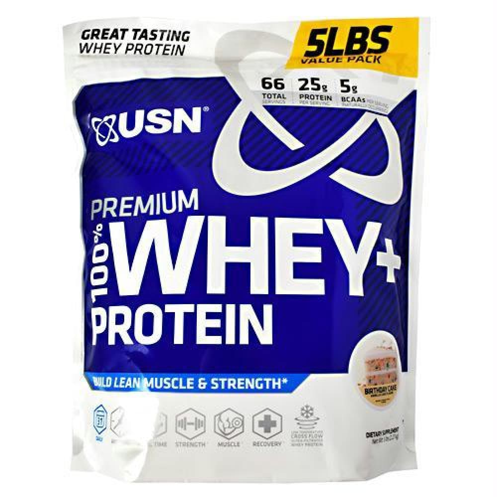 Usn Premium 100% Whey + Protein Vanilla Ice Cream - Birthday Cake / 5 lb - Supplements