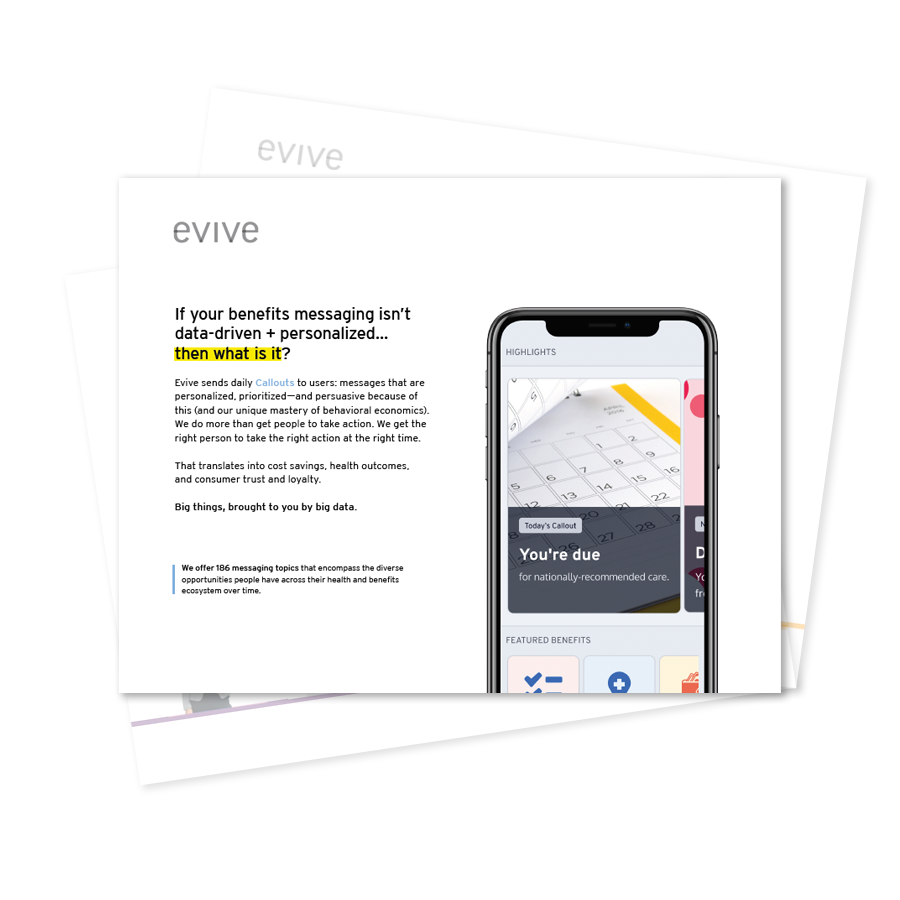 Evive sales slicks