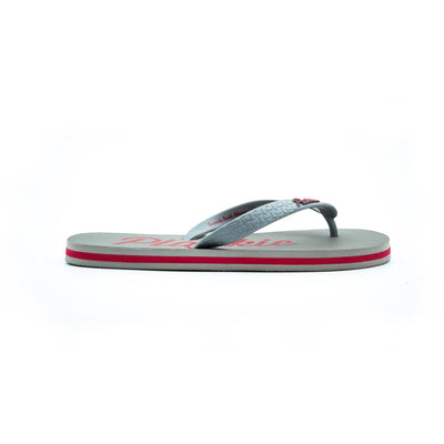Clifton Unisex Plakkie / Flip Flop - (Grey and Red)