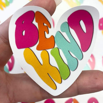 S1 Be Kind Vinyl Stickers (24)  - Screen Print Transfer