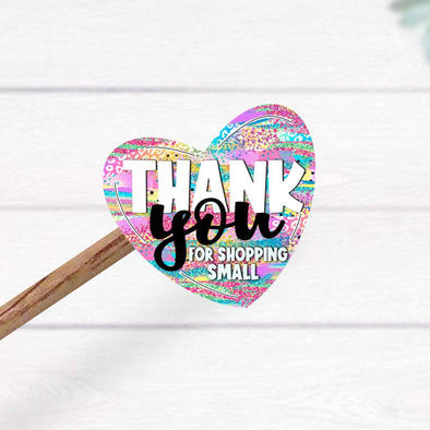 S8 Thank you Vinyl Stickers (25)  - Screen Print Transfer