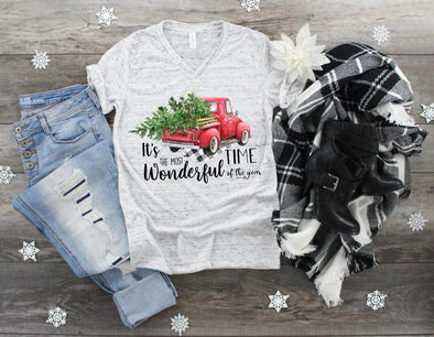 Most Wonderful Time Truck - Sublimation Transfer