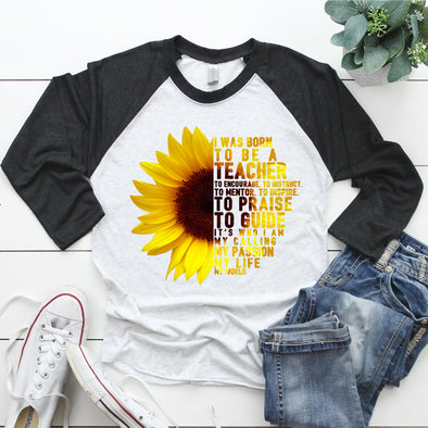 Teacher Sunflower - Sublimation Transfer