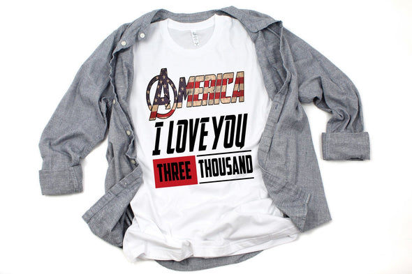 America I Love You 3000 - Sublimation Transfer